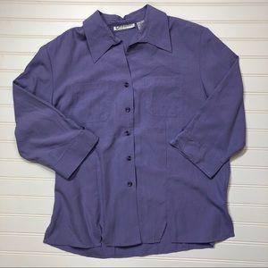 NWT Dressbarn DB Button Down Shirt Top Blouse Sz M
